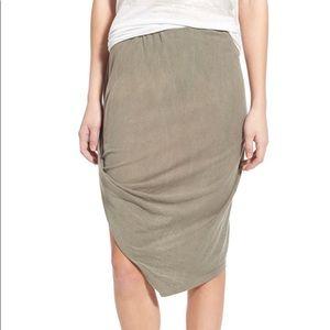 Pam & Gela Asymmetrical Drape Skirt